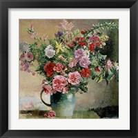Framed Peony Bouquet