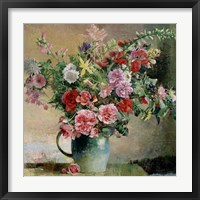 Framed Peony Bouquet