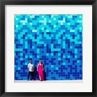 Framed Blue Lovers