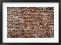 Framed Brick Wall Splattered with White