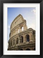 Framed Collaseum against a Blue Sky