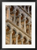 Framed Architecture Shot of Leaning Tower of Pisa