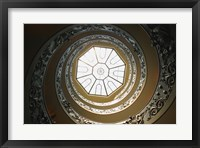 Framed Skylight at the Top of Spiral Staircase