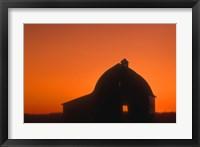 Framed Shadowed Building Against Gorgeous Sunset