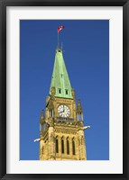 Framed Clock Tower with Canadian Flag