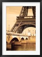 Framed Bottom of Bronzed Eiffel Tower