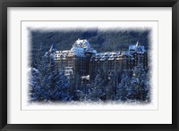 Framed Ski Resort in the Swiss Alps at Winter