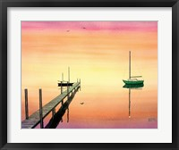 Framed Pier & Boat
