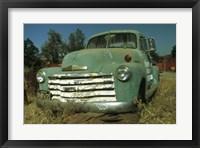 Framed Green Pickup