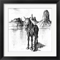 Framed Lonely Mule