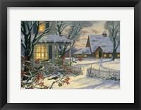 Framed Winter Chickadees