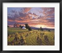 Framed Harvest Sunset