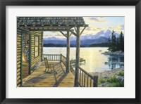 Framed Mountain Lake Retreat