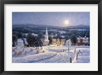 Framed Winter Night By Moonlight