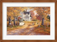 Framed Autumn Leaves And Laughter