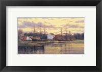 Framed Mystic Harbor