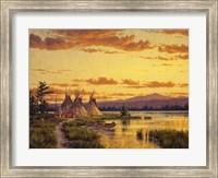Framed Northern Blackfoot Hunters Camp