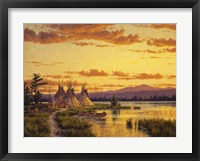 Framed Northern Blackfoot Hunters Camp