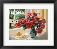 Framed Hot Pink Roses