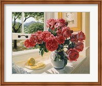 Framed Hot Pink Roses
