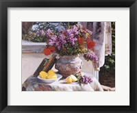 Framed Lilacs And Lemons
