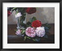 Framed Ruby And Peppermint Roses
