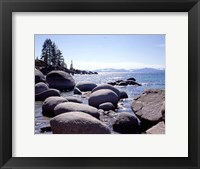 Framed Sand Harbor Beach, Lake Tahoe, Nevada 88
