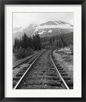 Framed Railroad Tracks, Alaska 85