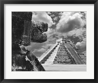 Framed Serpent And The Pyramid, Chechinitza, Mexico 02