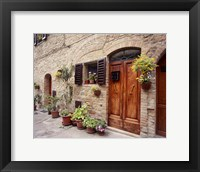 Framed Flowers On The Wall, Tuscany, Italy 06