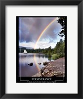 Framed Sailing Under Rainbows