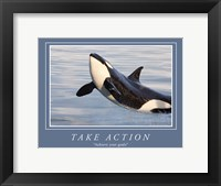 Framed Take Action Motivational
