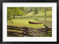 Framed Canoe & Fence