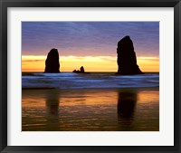 Framed Canyon Beach Sunset, Cannon Beach, Oregon 02