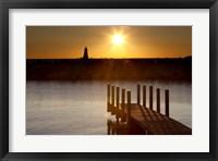 Framed Ludington Sunset, Ludington, Michigan 12