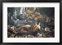 Framed Autumn Leaves- Red Fox