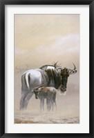 Framed Wildebeest