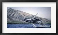 Framed Breeching Humpbacks - Maui