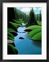 Framed Alpine Stream