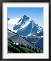 Framed Western Mountain