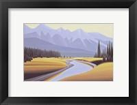 Framed Kootenay River Dawn