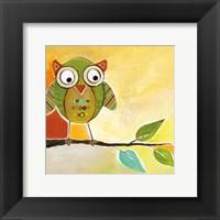 Owl Festival Square I Framed Print