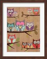 Framed Owl Tree I