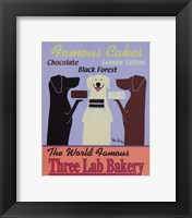 Framed Three Lab Bakery