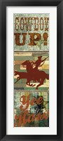 Framed Rodeo Panel One