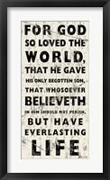 Framed John 3-16