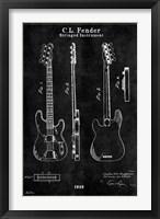Framed Guitar 1 Black