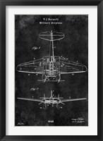 Framed Airplane1 Black