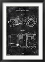 Framed Jeep1 Black