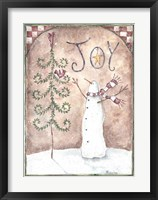 Framed Joy Primitive Snowman